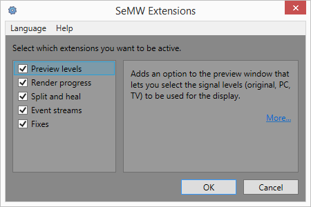 SeMW Extensions screenshot
