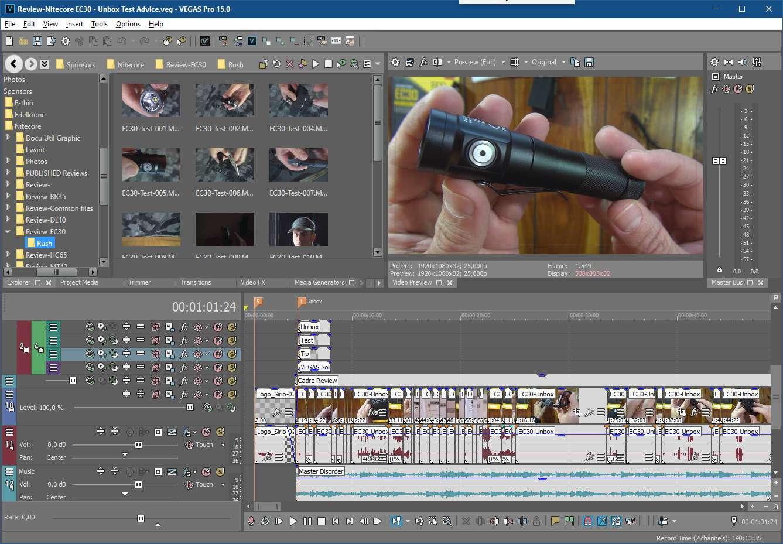 Vegas Pro screenshot