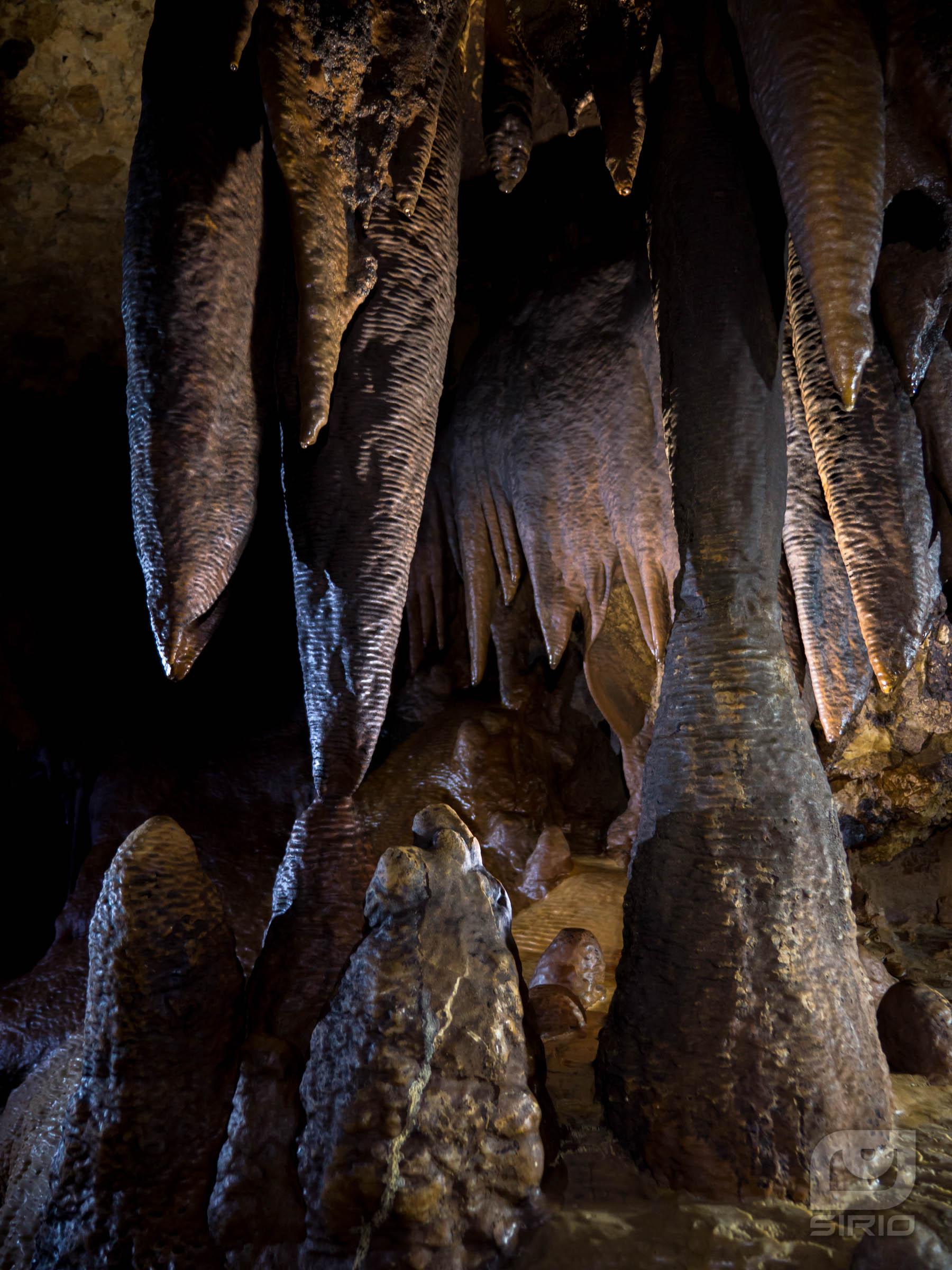 Stalagmite and stalactite.