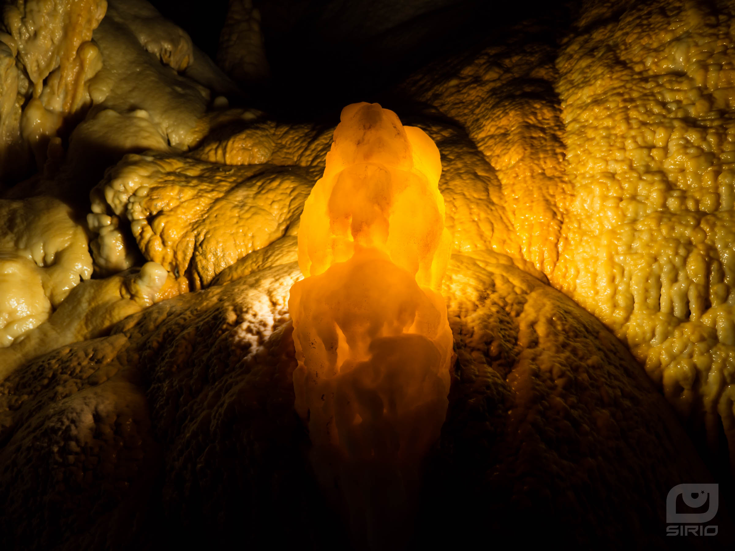 Stalagmite in back-light